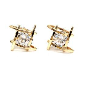 Rhinestone Push Back Earring Jewelry