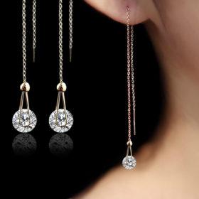 Long Cubic Zirconia Earrings