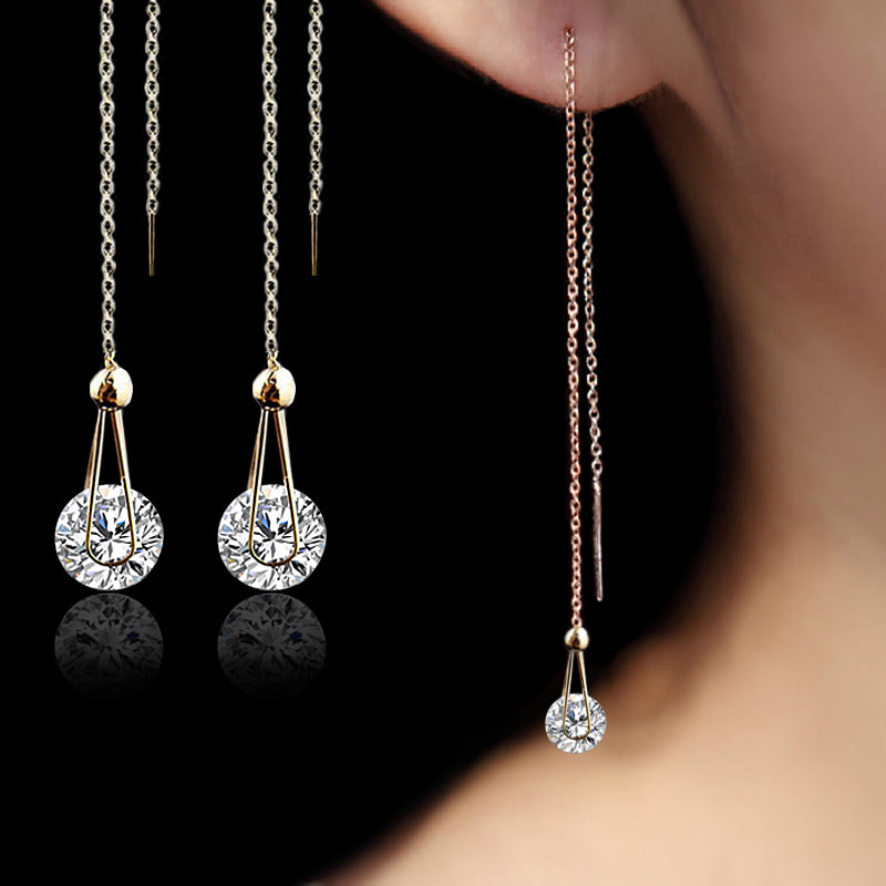Long Cubic Zirconia Earrings