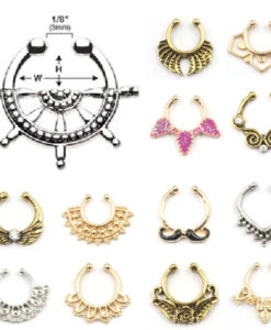 Extravagant Fake Nose Rings