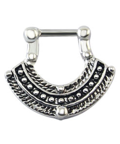 1pc Vintage India Inspired Nose Clicker Ring Jewelry For Septum