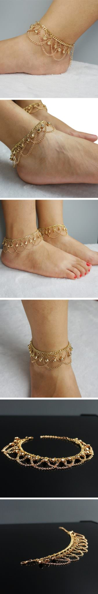 7063-c3f66a57a63eb9cc5afe39fb3229f5e9 Gold Plated Drape Chain Anklet Jewelry With Bells