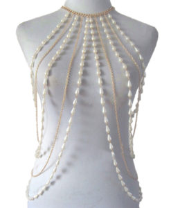 Elegant-Faux-Pearl-And-Silver-Gold-Chain-Body-Harness-247x300 Body Chain Store