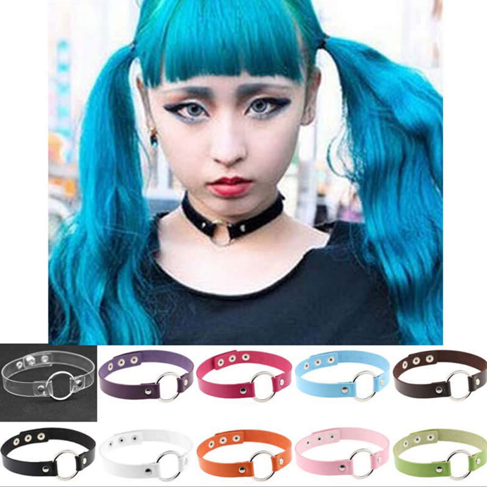 Harajuku-Grunge-Gothic-Anime-Leather-Choker-In-Various-Colors Body Chain Store