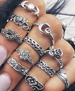 11-Pieces-Boho-Chic-Spirituality-Silver-Plated-Antique-Stackable-Ring-Set-–-9-Sets-247x300 Latest on Sale