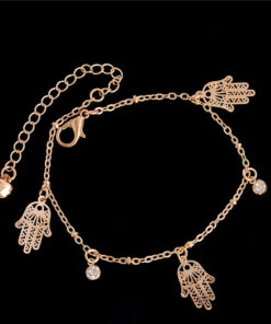Golden Foot Chain Jewelry Spirituality Ankle Bracelet For Women - 5 Styles