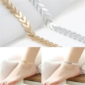 Boho Fishbone Chain Anklet Fashion Ankle Foot Jewelry For Women - 2 Colors