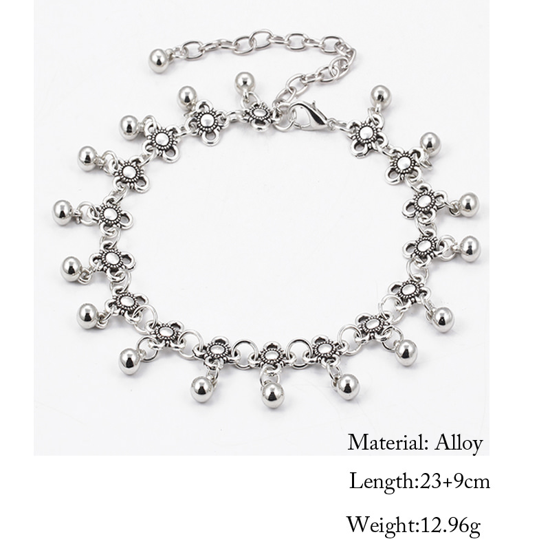 6fc405654fc Sterling Silver Anklets – Stylish Women Silver Floral Anklet Foot Chain  Jewelry With Charms