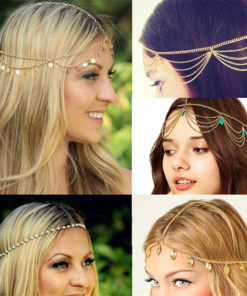 Bohemian Metal Gold Color Head Chain Hair Jewelry For Women - 8 Styles