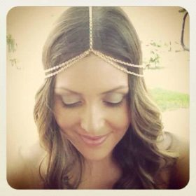 Women Boho Style Two-Layer Gold Head Chain Jewelry
