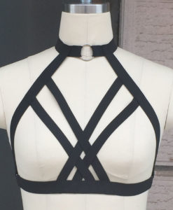 Gothic BDSM Lingerie Exotic Bondage Cosplay Harness Bra For Women