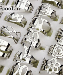 Unisex 20-Pieces Zinc Alloy Silver Plated Adjustable Gypsy Finger Toe Ring Set