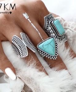 Boho Style 3-Pieces Vintage Punk Knuckle Ring Set For Women - 2 Colors