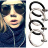 Unisex Goth Septum Punk Style Piercing Hoop Clip Nose Ring And Lip Ring