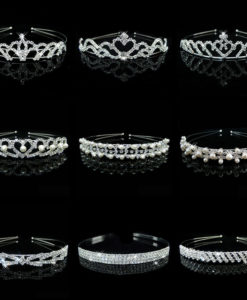Romantic Bridal Bridesmaid Prom Crystal Pearl Charm Headband Tiara Crown - 15 Styles