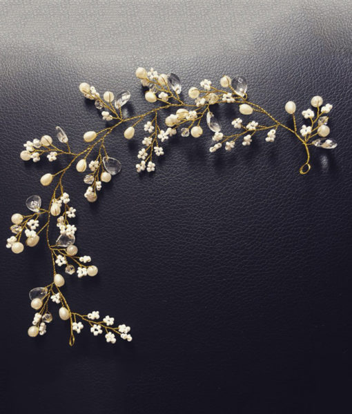 Golden Berry Flower Wedding Prom Pageant Hair Jewelry For Women