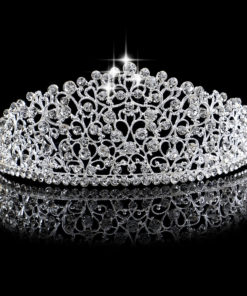 Fabulous Crystal Studded Bridal Prom Party Pageant Tiara Crown