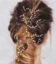 Unique Wedding Prom Party Cosplay Rice Grain Pearls Hair Sticks