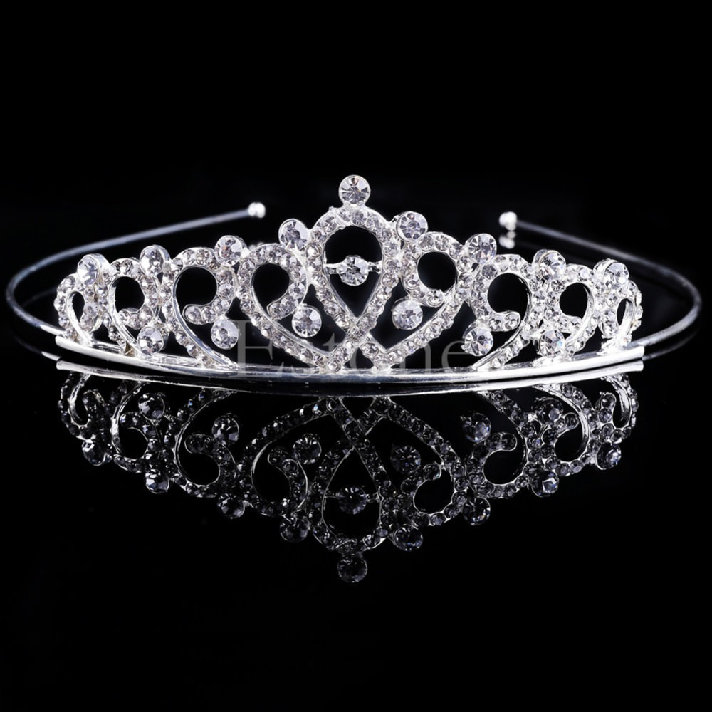 Bejeweled Princess Headband Tiara With Stunning Rhinestone Crystals - 6 Styles