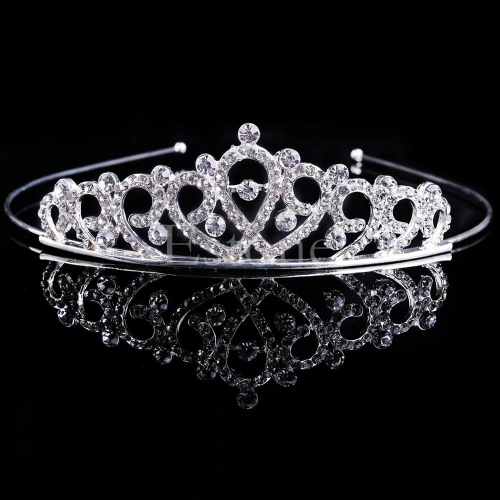 Bejeweled Princess Headband Tiara With Stunning Rhinestone Crystals - 6 Styles