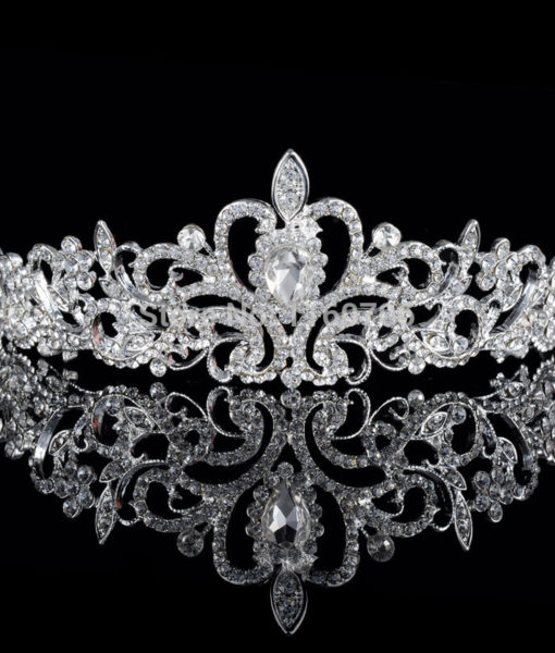 Magnificent Bridal Prom Pageant Crystal Inlaid Queen Tiara Crown - 2 Styles