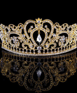 Glamorous Wedding Pageant Prom Rhinestone Crystal Crown For Women - 5 Colors