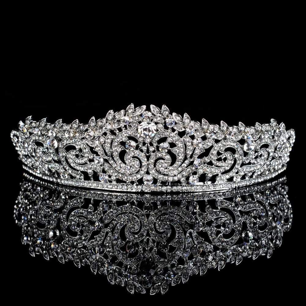 Lavishly Studded Bridal Prom Party Pageant Cosplay Rhinestone Tiara Crown For Women