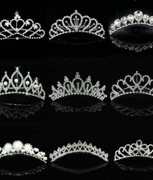 Majestic Prom Pageant Wedding Bride Bridesmaid Jewelry Comb Tiara - 13 Styles
