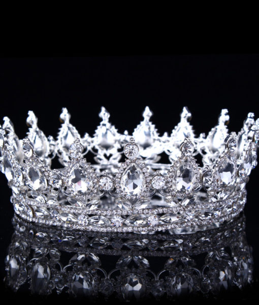 Hot European Design Vintage Peacock Rhinestone Crystal Bridal Pageant Crown