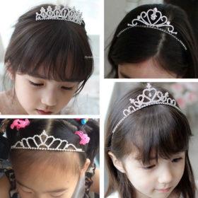 Dazzling Rhinestone Crystal Girl Princess Headband Tiara - 15 Styles