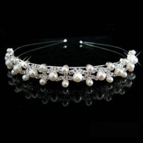 Bejeweled Pearl And Rhinestone Crystal Bridal/Prom/Cosplay Crown Tiara - 16 Styles