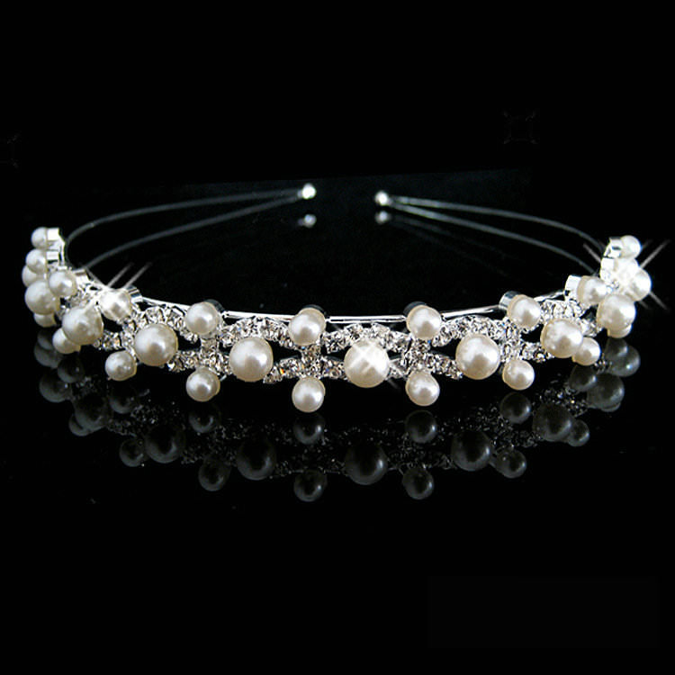 Bejeweled Pearl And Rhinestone Crystal Bridal/Prom/Cosplay Crown Tiara - 16 Styles
