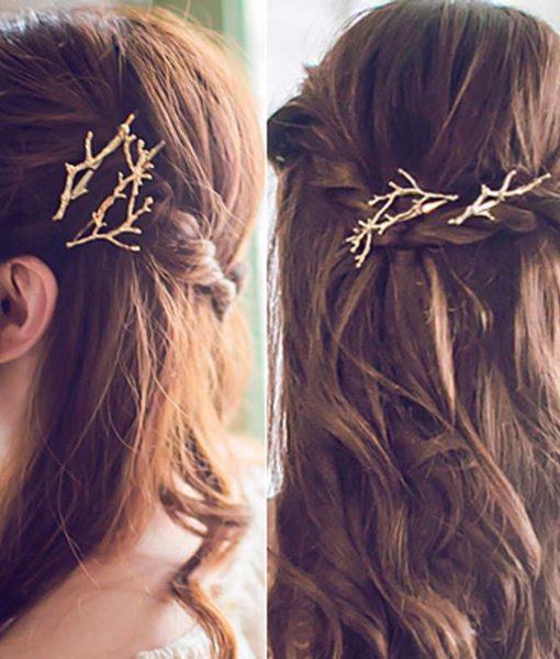 Hip Women Scissors/Branches Fashion Clip For Hair - 2 Colors