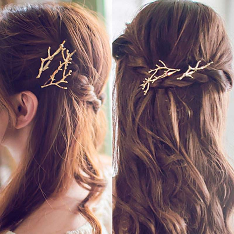 Hip Women Scissors/Branches Fashion Clip For Hair - 2 Colors