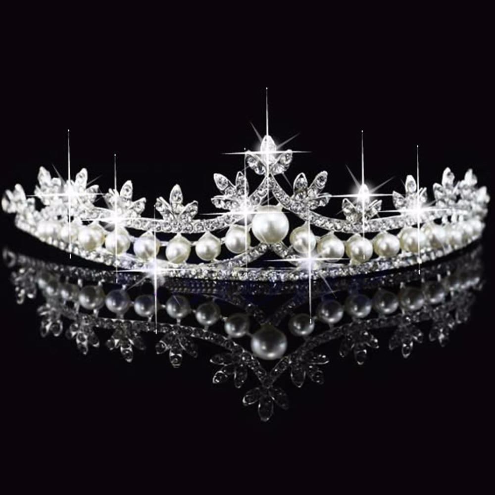 Luxurious Bridal/Prom/Cosplay Rhinestone Crystal And Pearl Princess Tiara