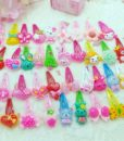 12-Pieces Mix Colorful Fruit Flower Star Animal Fish Ribbon Heart Candy Hair Accessories For Girls