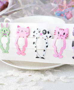 Cute 6-Pieces Dog Cat Bunny Hair Snap Clip Set For Women/Children