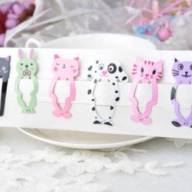 Cute 6-Pieces Dog Cat Bunny Hair Snap Clip Set For Women/Children