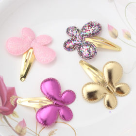 Sparkling Glitter Sequins Heart Butterfly Stars Girl Hair Clip - 3 Styles