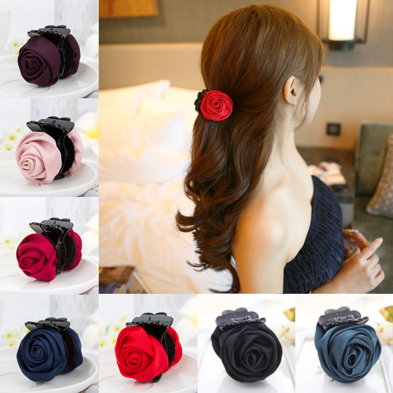 Gorgeous Rose Fashion Hair Claws For Women - 7 Colors