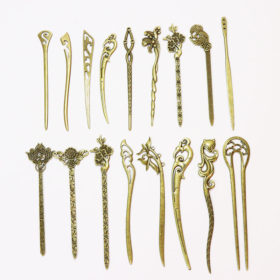 Elegant Bronze Vintage Hair Stick Pin For Women - 17 Styles