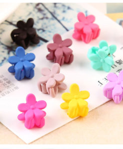 Pretty 10-Pieces Girls Fashion Candy Color Hair Clip Claw Accessories - 3 Styles