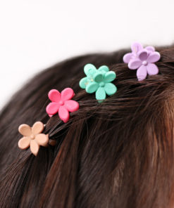 Cute Girls Multicolored Small Flowers Fashion Clip Clamps - 16 Colors