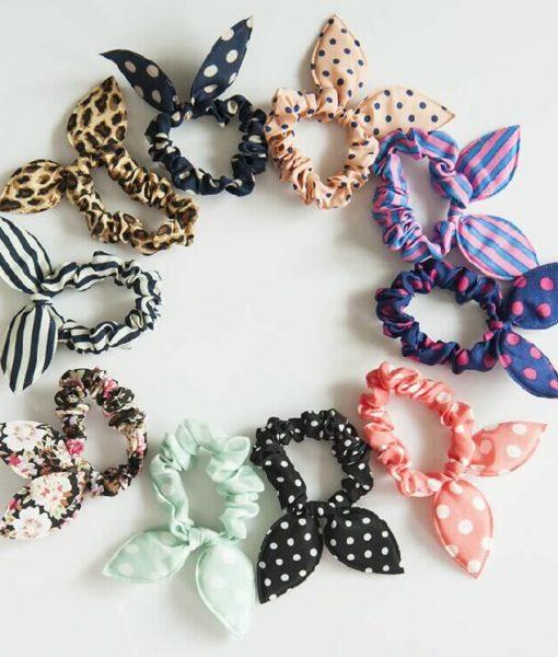 Cute Polka Dot Rabbit Ears Hair Tie For Women - Various Styles