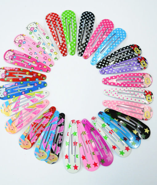 Charming 10-Pieces Cartoon Character/Polka Dots Girl Hair Grips - 4 Styles
