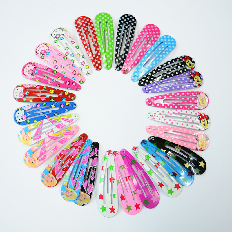 Charming 10-Pieces Cartoon Character/Polka Dots Girl Hair Grips