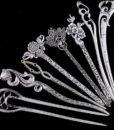 Elegant Silver Vintage Hair Stick Pin For Women - 16 Styles