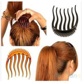 Hot Ponytail Volumizing Hair Comb Insert For Women - 2 Colors