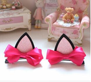 36254-89e913b47c5caf1b3adffb5838574e29 2 Styles Cute Cat Ears Baby Girl Hair Clip Accessories