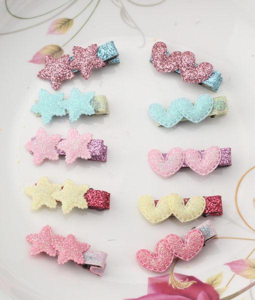Cute 2-Styles Shiny Stars/Hearts Girl Hair Clip - 5 Colors